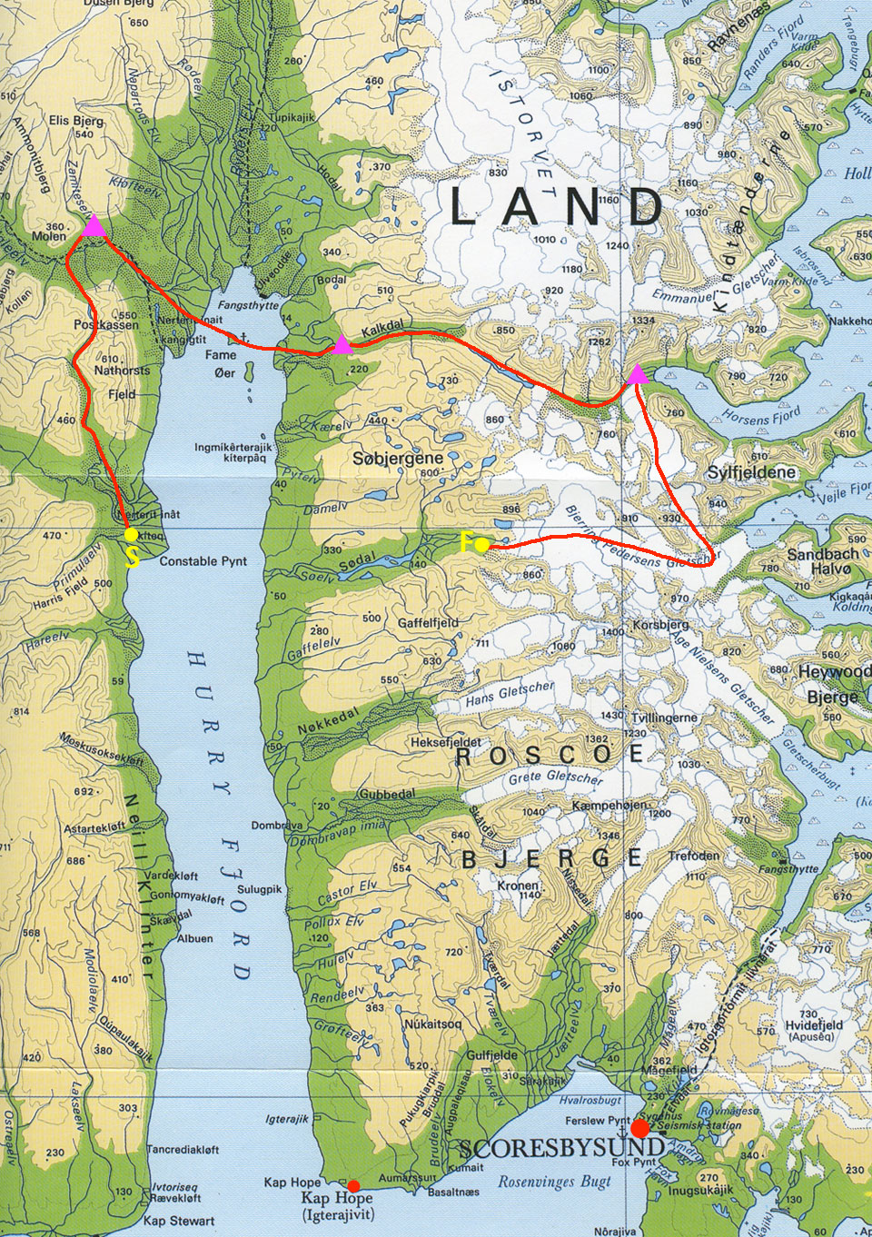 Iceman Polar Race Map